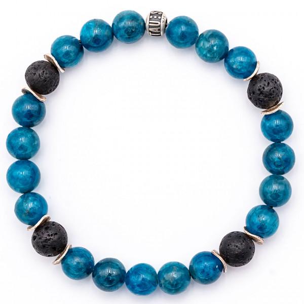 Apatit Edelstein Armband blau - Motivation