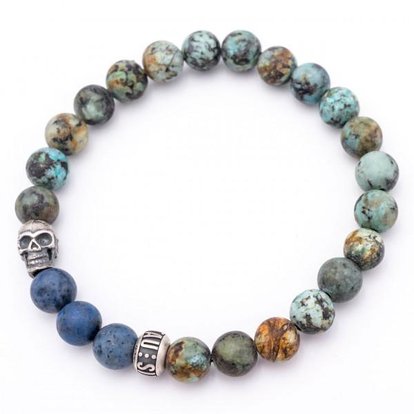 Herrenarmband Skull Bracelet •Blue Garden•