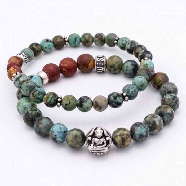 The Buddha Mind Bracelet •Premium Set• Männerschmuck